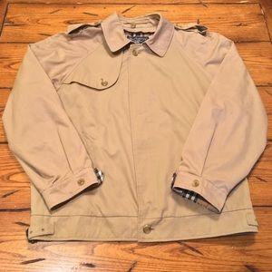 Burberry London Beige Raincoat Men's Large